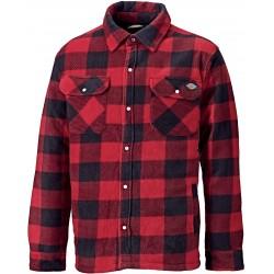 Chemise Portland polaire à carreaux rouge et noir dickies DSH5000