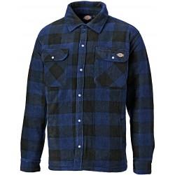Chemise Portland polaire à carreaux bleu et noir dickies DSH5000