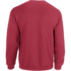 SWEAT-SHIRT ROUGE ANTIQUE COL ROND HEAVY BLEND GILDAN GI18000