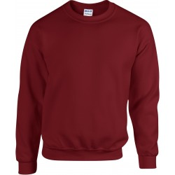SWEAT-SHIRT ROUGE GRENAT COL ROND HEAVY BLEND GILDAN GI18000
