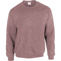 SWEAT-SHIRT Marron chiné COL ROND HEAVY BLEND GILDAN GI18000