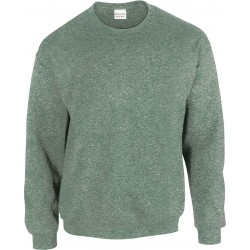 SWEAT-SHIRT vert chiné COL ROND HEAVY BLEND GILDAN GI18000